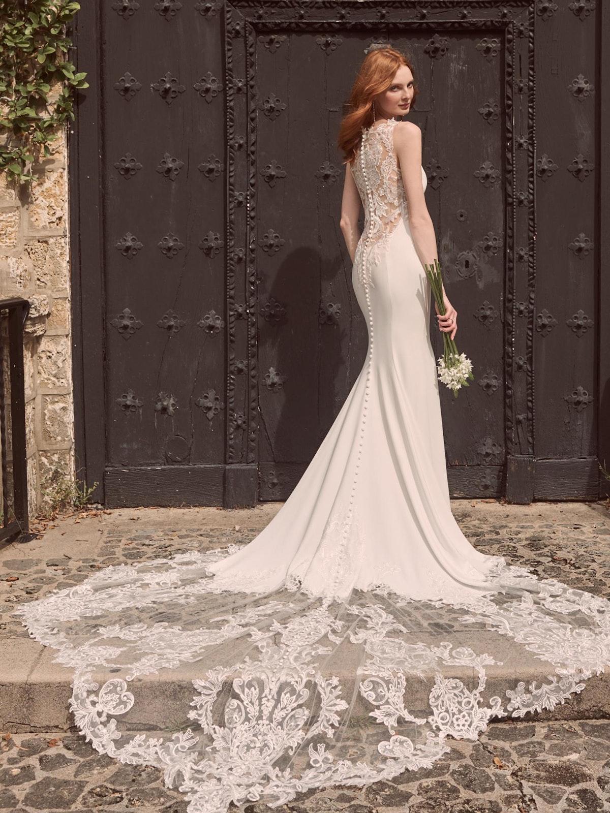 Maggie Sottero Alyssa Modern Crepe Wedding Gown 21MW352 Main