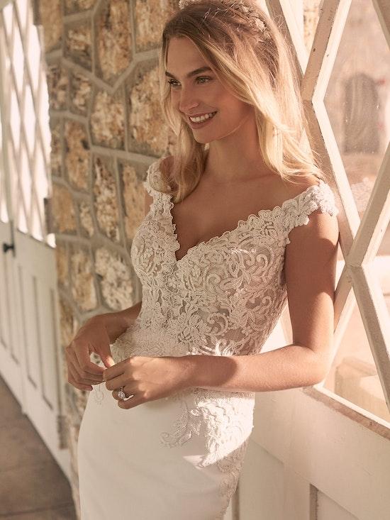 Maggie Sottero Antonella Sophisticated Crepe Sheath Bridal Dress 21MT416 Alt3