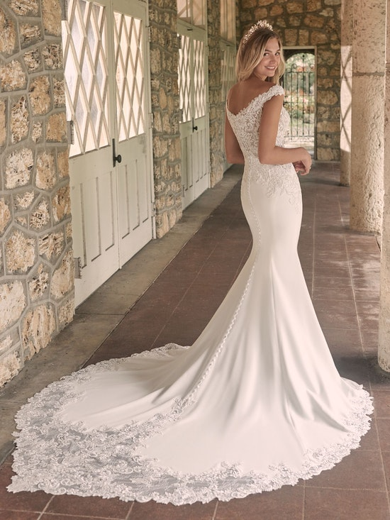 Maggie Sottero Antonella Sophisticated Crepe Sheath Bridal Dress 21MT416 Alt4