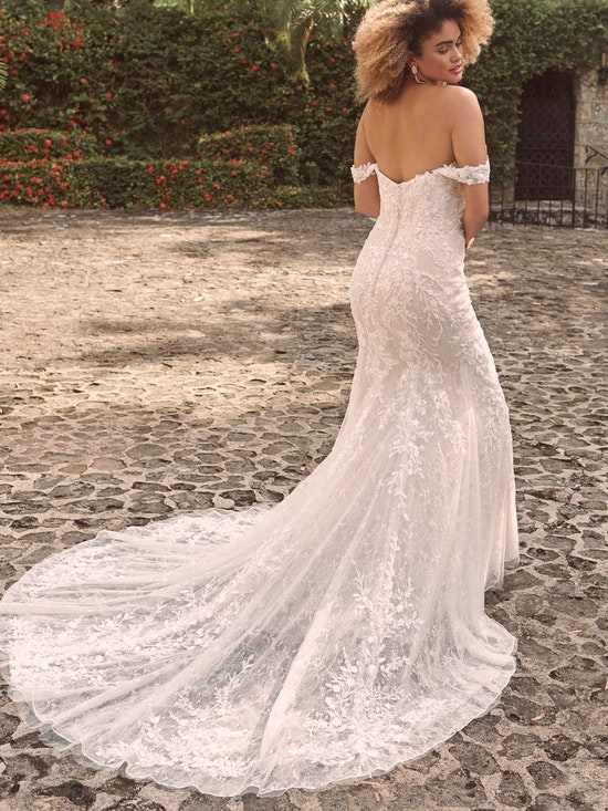 Maggie Sottero Charmaine Off-the-Shoulder Nature-Inspired Bridal Gown 21MK371 Alt2