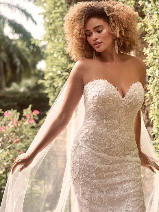 Maggie Sottero Charmaine Off-the-Shoulder Nature-Inspired Bridal Gown 21MK371 Alt4