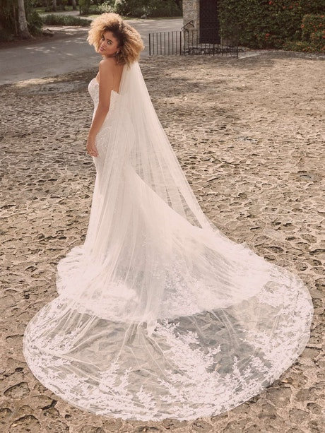 Maggie Sottero Charmaine Off-the-Shoulder Nature-Inspired Bridal Gown 21MK371 Alt5