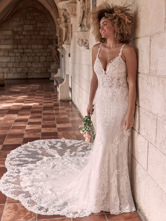 Maggie Sottero Farrah Beaded Lace Sheath Bridal Dress 21MT390 Alt1