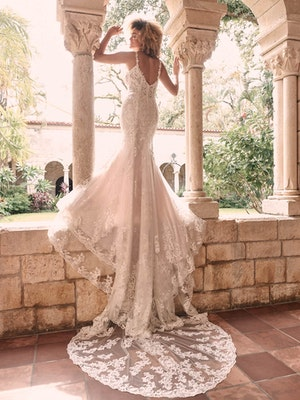 Maggie Sottero Farrah Beaded Lace Sheath Bridal Dress 21MT390 Alt3