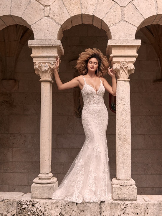 Maggie Sottero Farrah Beaded Lace Sheath Bridal Dress 21MT390 Alt7