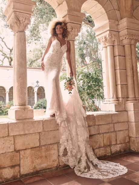 Maggie Sottero Farrah Beaded Lace Sheath Bridal Dress 21MT390 Main