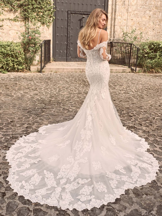 Maggie Sottero Fiona Sparkly Lace Fit-and-Flare Bridal Dress 21MS366 Alt2