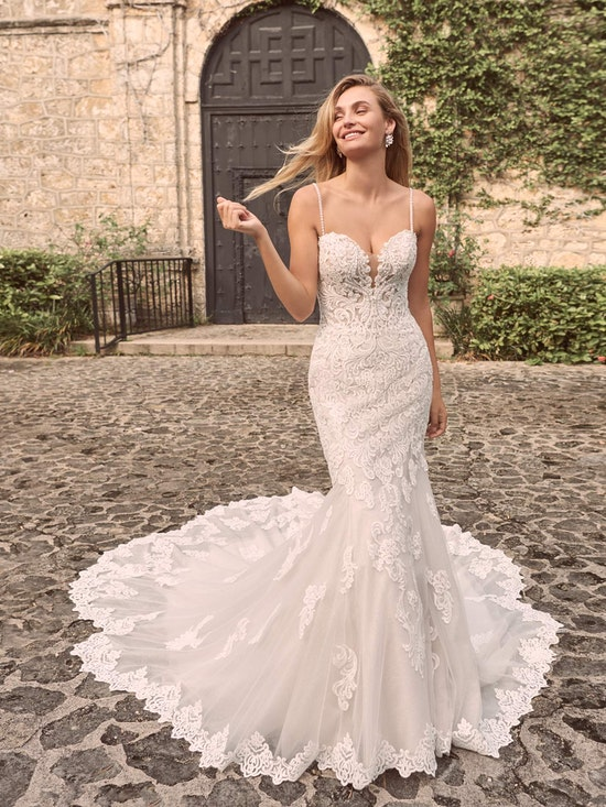 Maggie Sottero Fiona Sparkly Lace Fit-and-Flare Bridal Dress 21MS366 Alt4