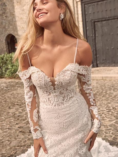 Maggie Sottero Fiona Sparkly Lace Fit-and-Flare Bridal Dress 21MS366 Main