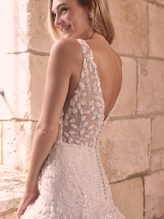 Maggie Sottero Geneva Nature-Inspired Lace Fit-and-Flare Wedding Dress 21MZ401 Alt6