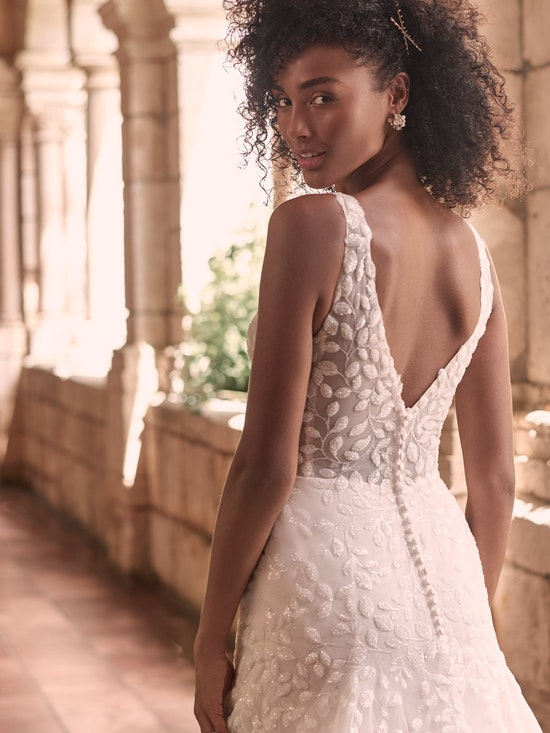 Maggie Sottero Geneva Nature-Inspired Lace Fit-and-Flare Wedding Dress 21MZ401 Alt8