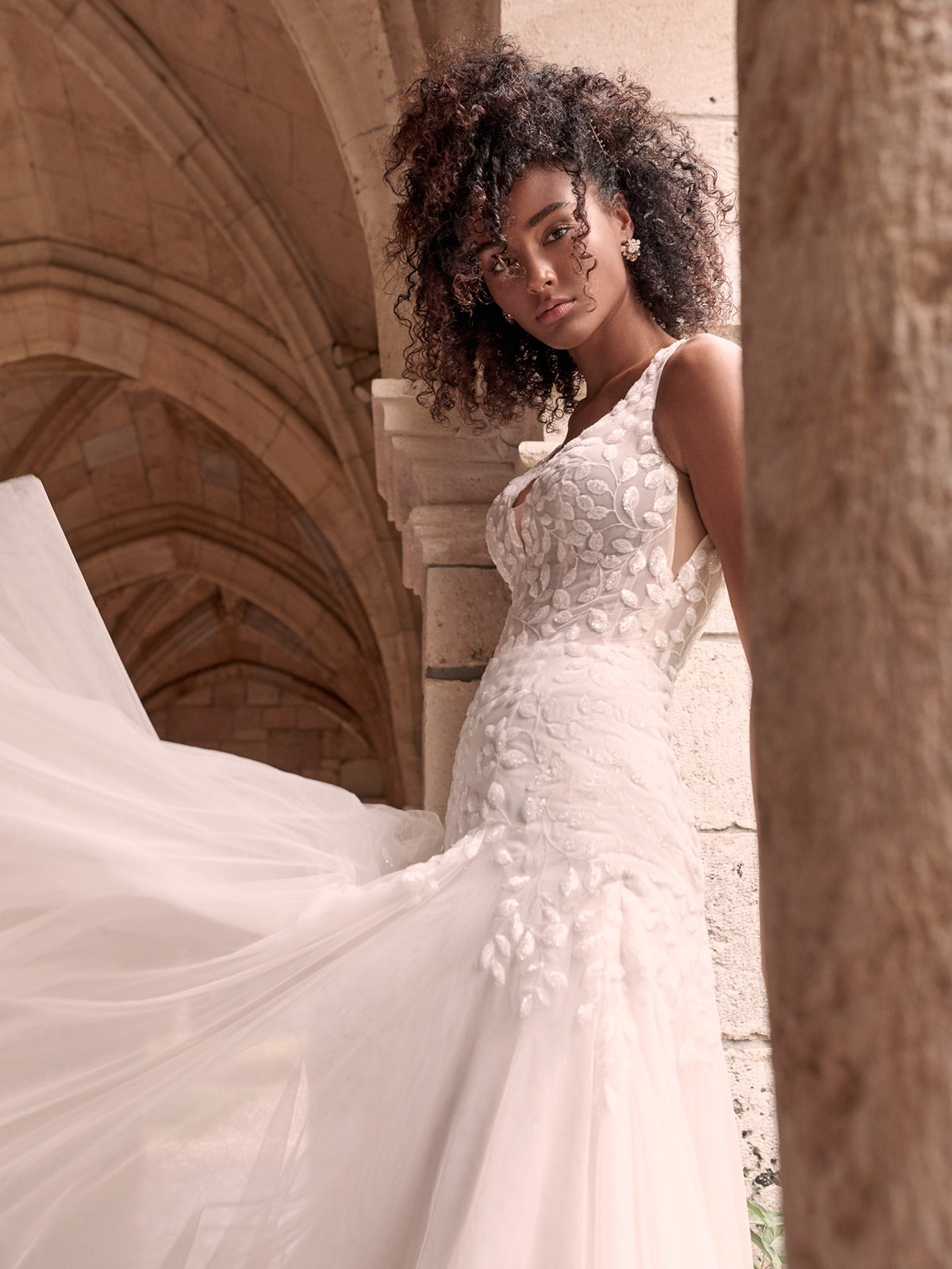Maggie Sottero Geneva Nature-Inspired Lace Fit-and-Flare Wedding Dress 21MZ401 Main