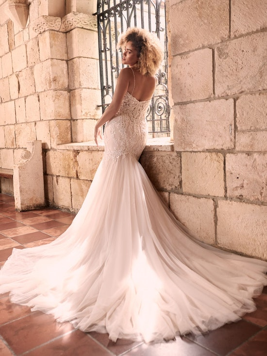 Maggie Sottero Halle Beaded Lace Mermaid Wedding Gown 21MC385 Alt2
