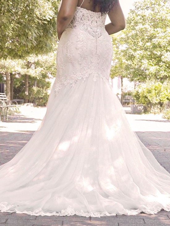 Maggie Sottero Halle Beaded Lace Mermaid Wedding Gown 21MC385 Curve-Alt13