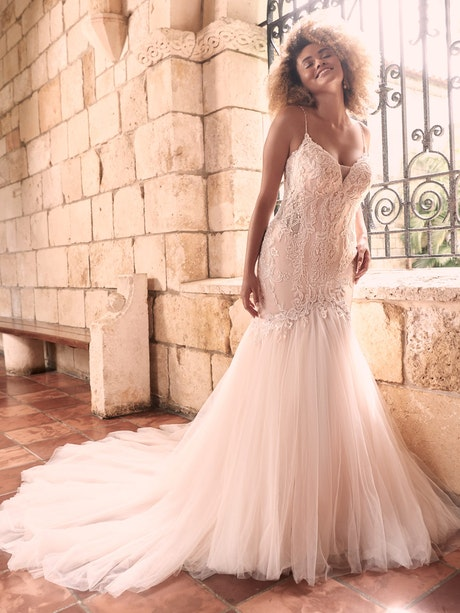 Maggie Sottero Halle Beaded Lace Mermaid Wedding Gown 21MC385 Main