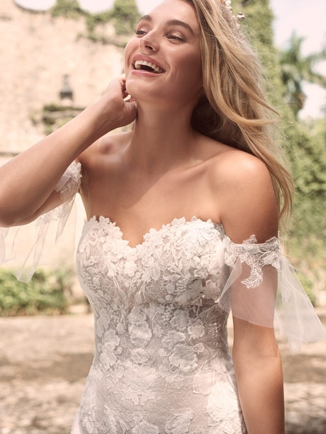 Maggie Sottero Joelle Floral Fit-and-Flare Bridal Gown 21MW358 Main