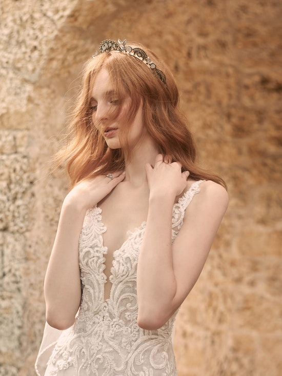Maggie Sottero Johanna Illusion Lace Sleeve A-line Wedding Gown 21MS349 Alt2