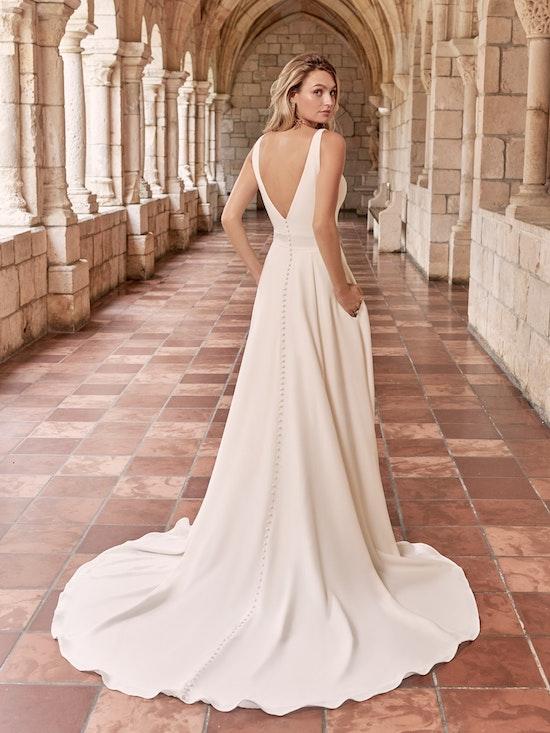Maggie Sottero Josephine Minimalist Crepe A-line Wedding Dress 21MW374 Alt2
