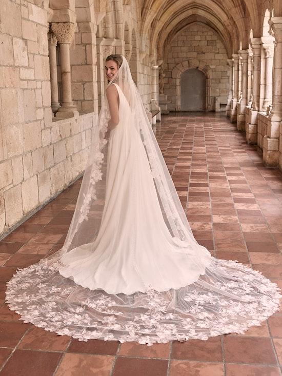 Maggie Sottero Josephine Minimalist Crepe A-line Wedding Dress 21MW374 Alt6