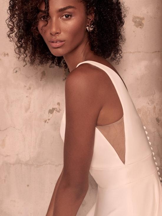 Maggie Sottero Josephine-Lynette Minimalist Crepe A-line Wedding Dress 21MW374B Alt2