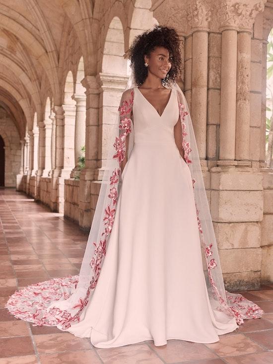 Maggie Sottero Josephine-Lynette Minimalist Crepe A-line Wedding Dress 21MW374B Alt3