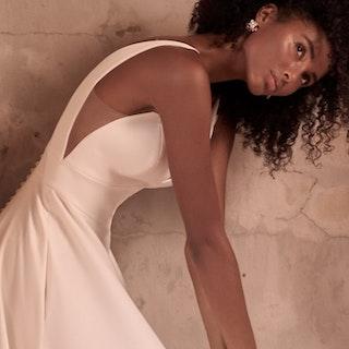 Maggie Sottero Josephine-Lynette Minimalist Crepe A-line Wedding Dress 21MW374B Main