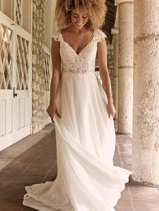 Maggie Sottero June Cap-Sleeve Chiffon Bridal Gown 21MT378 Alt1