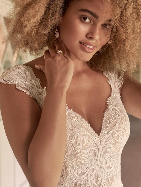 Maggie Sottero June Cap-Sleeve Chiffon Bridal Gown 21MT378 Alt2