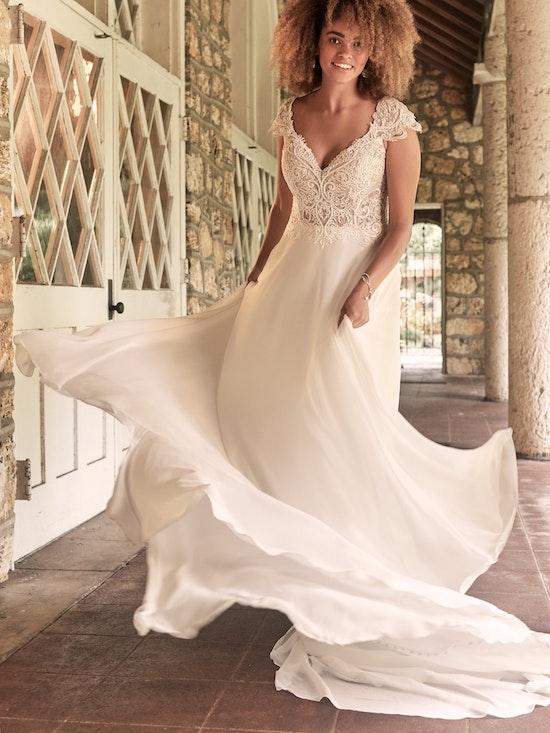 Maggie Sottero June Cap-Sleeve Chiffon Bridal Gown 21MT378 Alt4