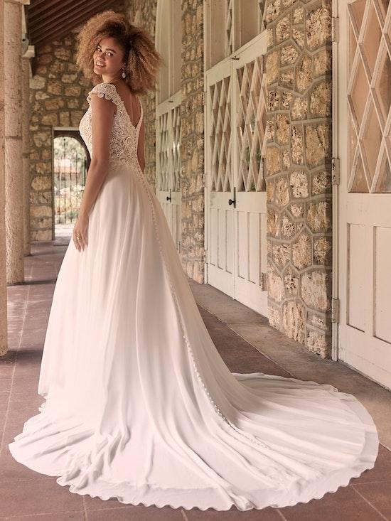 Maggie Sottero June Cap-Sleeve Chiffon Bridal Gown 21MT378 Alt5
