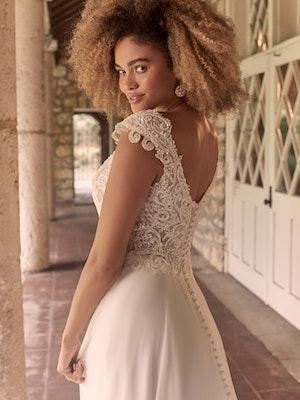 Maggie Sottero June Cap-Sleeve Chiffon Bridal Gown 21MT378 Main