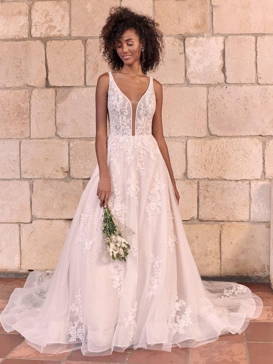 Maggie Sottero Leticia Romantic A-line Bridal Gown 21MK394 Alt1
