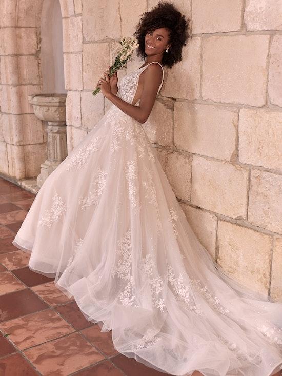 Maggie Sottero Leticia Romantic A-line Bridal Gown 21MK394 Alt3