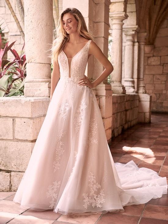 Maggie Sottero Leticia-Lynette Romantic A-line Bridal Gown 21MK394B Alt2