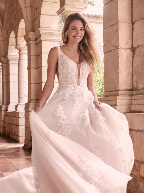 Maggie Sottero Leticia-Lynette Romantic A-line Bridal Gown 21MK394B Alt3