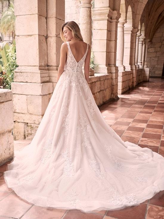 Maggie Sottero Leticia-Lynette Romantic A-line Bridal Gown 21MK394B Alt4
