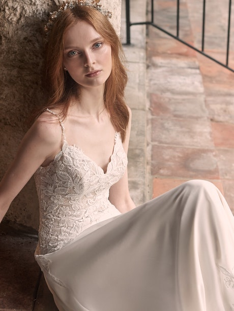 Maggie Sottero Livvy Lightweight Chiffon A-line Wedding Gown 21MC427 Main