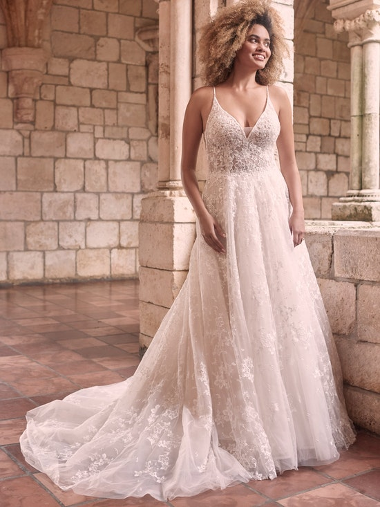 Maggie Sottero Lorenza Floral Boho A-line Wedding Dress 21MT411 Alt1