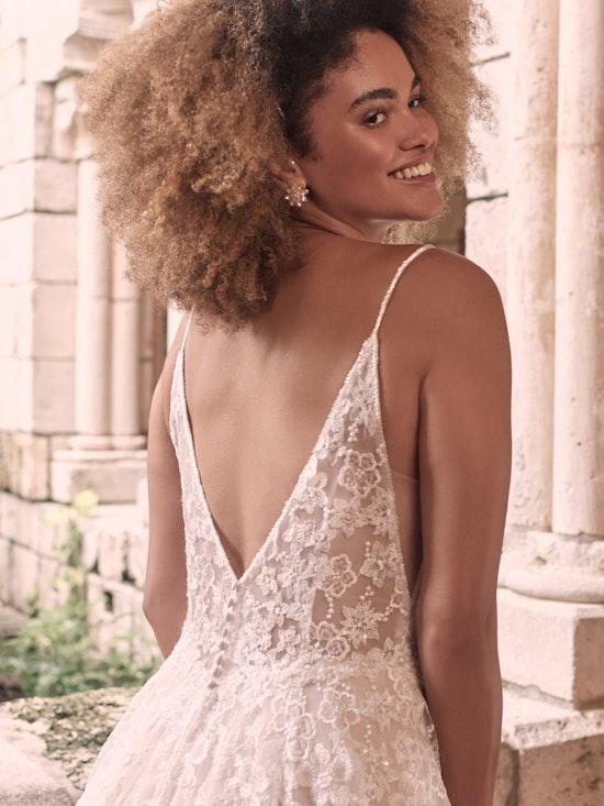 Maggie Sottero Lorenza Floral Boho A-line Wedding Dress 21MT411 Alt2