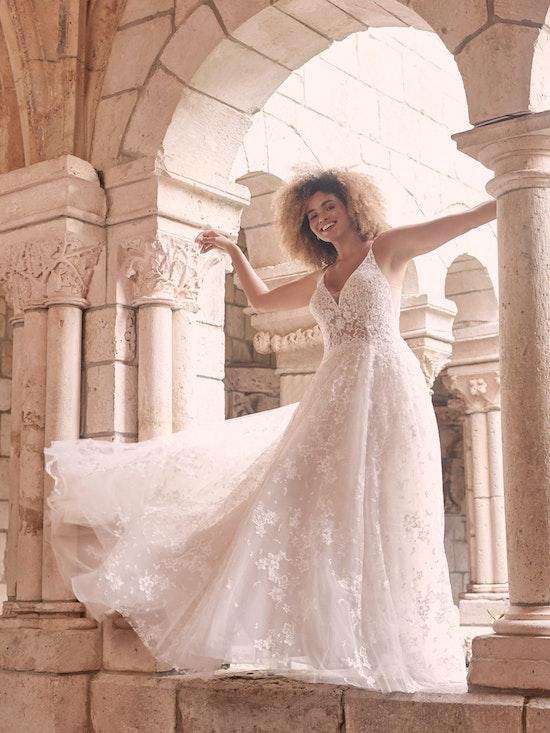 Maggie Sottero Lorenza Floral Boho A-line Wedding Dress 21MT411 Alt4
