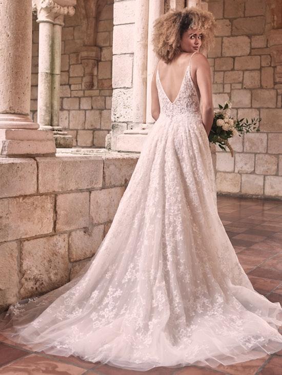 Maggie Sottero Lorenza Floral Boho A-line Wedding Dress 21MT411 Alt6