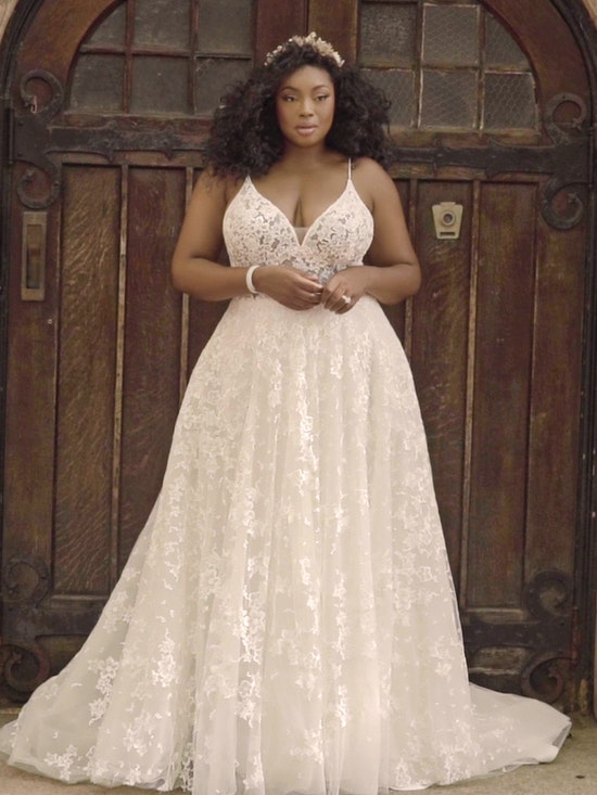 Maggie Sottero Lorenza Floral Boho A-line Wedding Dress 21MT411 Curve-Alt8