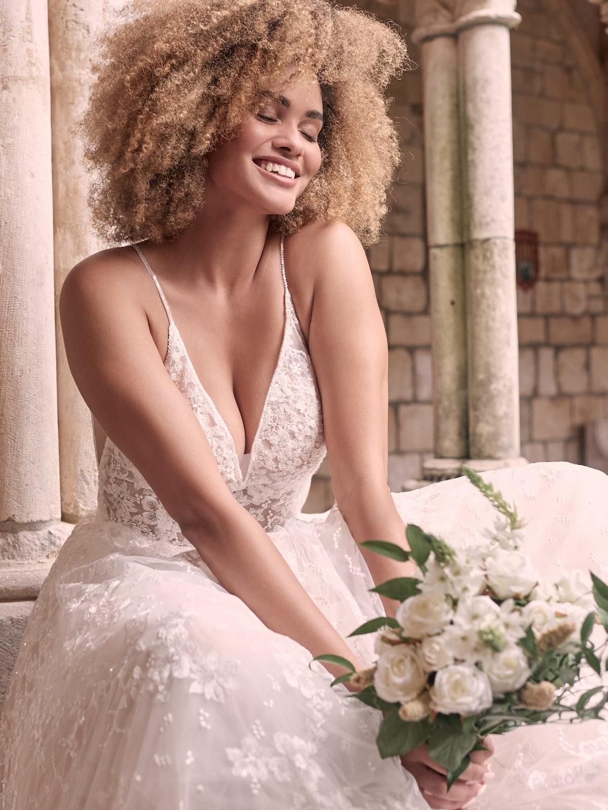 Maggie Sottero Lorenza Floral Boho A-line Wedding Dress 21MT411 Main