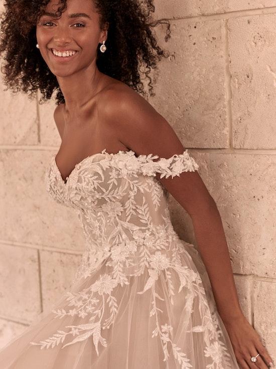 Maggie Sottero Orlanda Strapless Floral Princess Wedding Dress 21MW359 Alt2