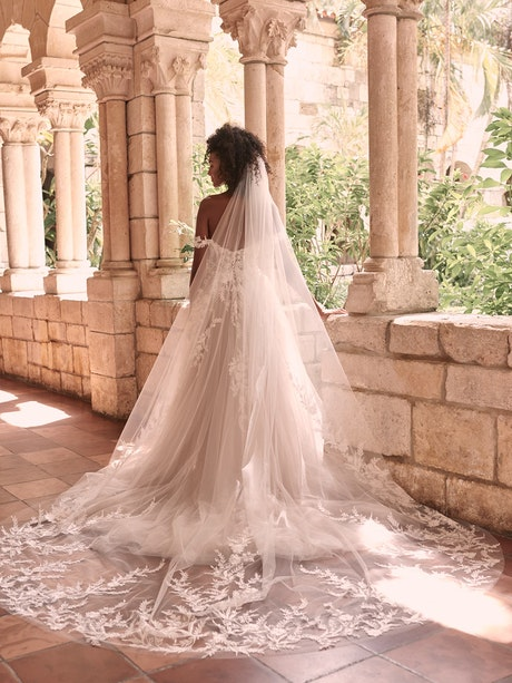Maggie Sottero Orlanda Strapless Floral Princess Wedding Dress 21MW359 Alt5
