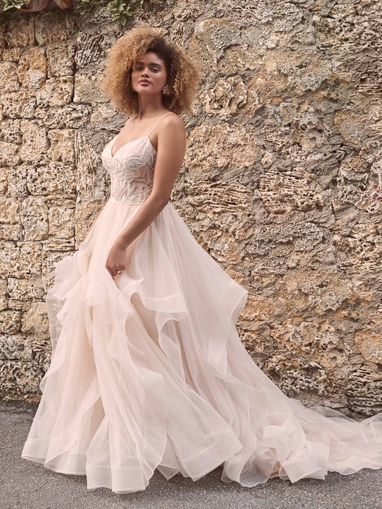 Maggie Sottero Timbrey Unique Tiered Tulle Ball Gown Wedding Dress 21MC391 Alt1