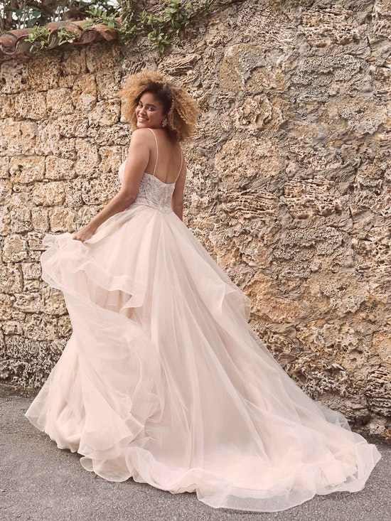 Maggie Sottero Timbrey Unique Tiered Tulle Ball Gown Wedding Dress 21MC391 Alt3