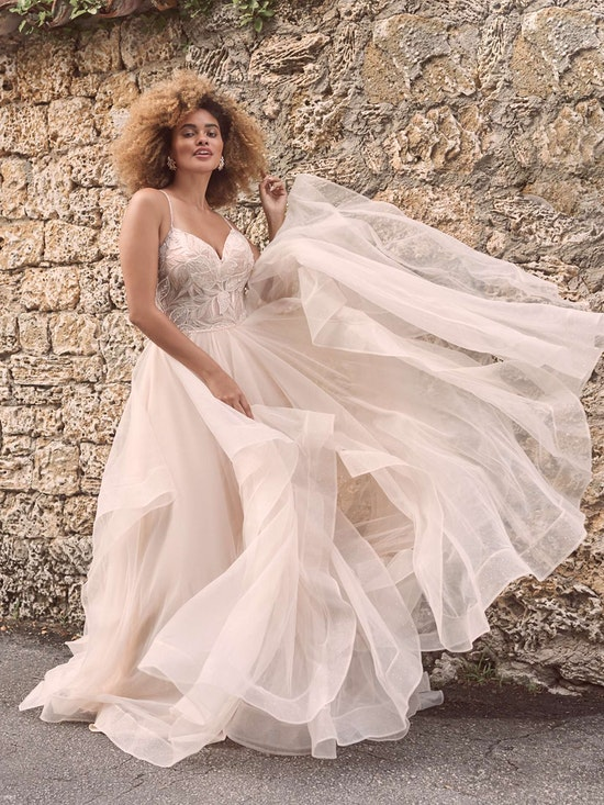 Maggie Sottero Timbrey Unique Tiered Tulle Ball Gown Wedding Dress 21MC391 Alt4