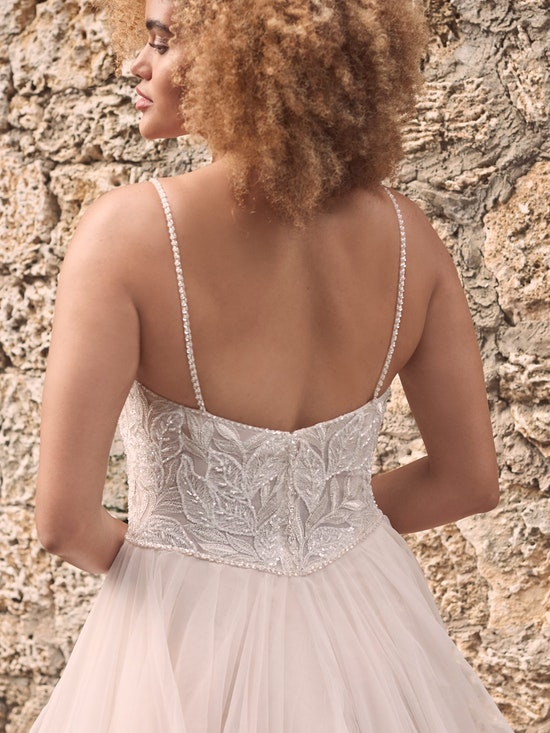 Maggie Sottero Timbrey Unique Tiered Tulle Ball Gown Wedding Dress 21MC391 Alt5