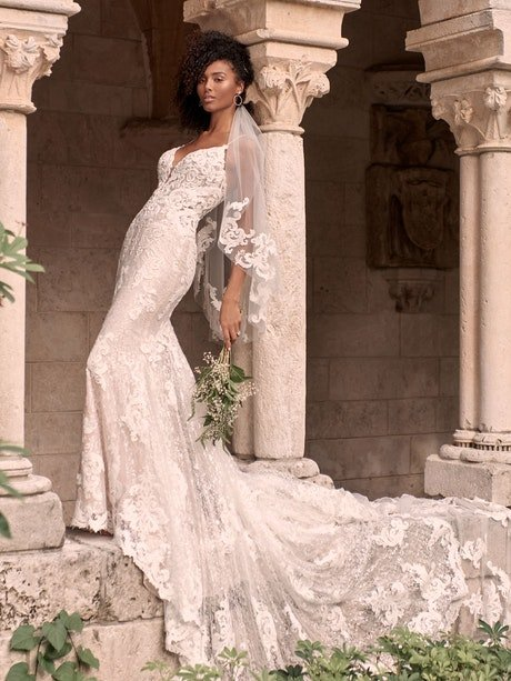 Maggie Sottero Tuscany-Royale Sparkly Lace Sheath Bridal Dress 21MS347 Main